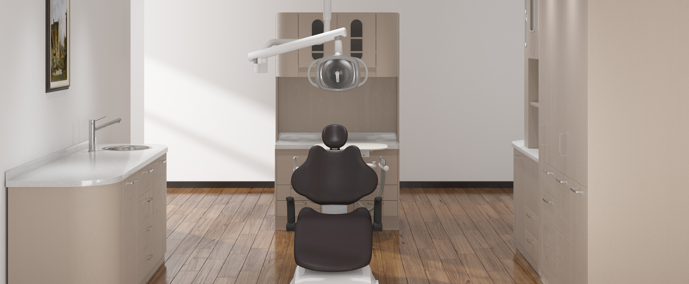 AJ12 Chair and Rear Delivery Unit and Amber Ceiling Light